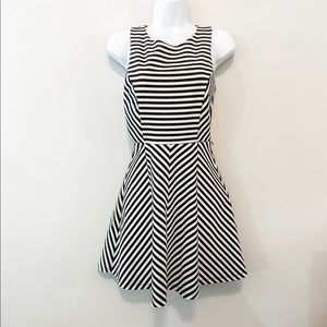 Black and White Striped Forever 21 Dress